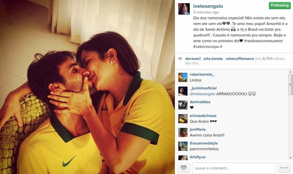 12.jun.2014 - Ivete Sangalo se declara para o marido Daniel