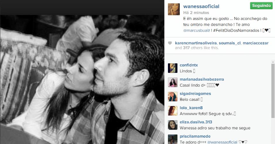 12.jun.2014 - Wanessa declara seu amor pelo marido, Marcus Buaiz, no Instagram.