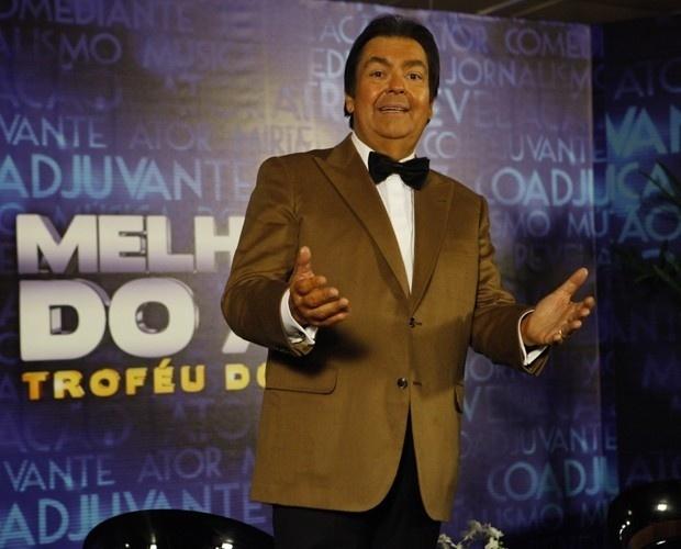 Fausto Silva durante o Troféu Melhores do Ano do
