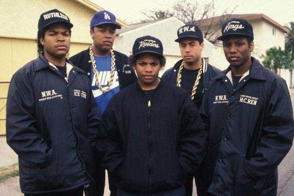 O grupo de rap N.W.A.