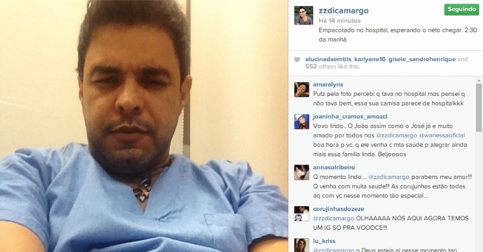 19.jun.2014 - Prestes a se tornar avô pela segunda vez, Zezé di Camargo posta foto no Instagram enquanto espera o nascimento do filho de Wanessa