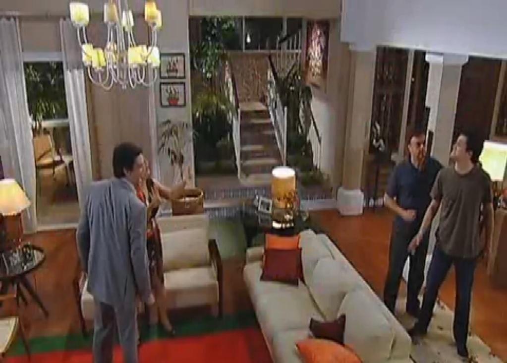 A casa dos gêmeos Jorge e Miguel (interpretados por Mateus Solano), na novela