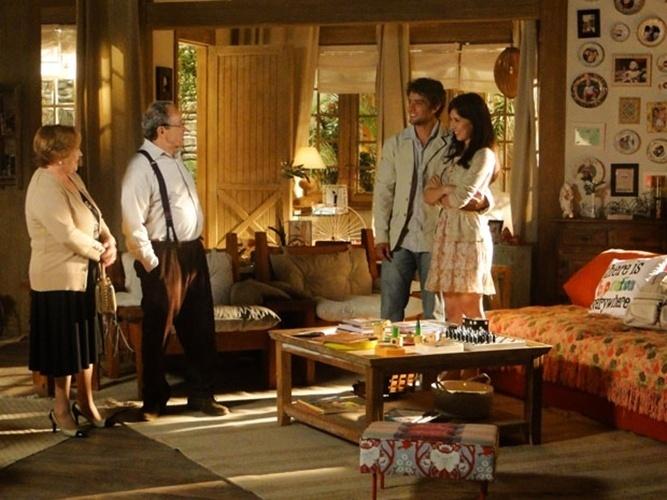 A casa dos personagens Rodrigo Macedo (Rafael Cardoso) e Manuela Fonseca (Marjorie Estiano), na novela