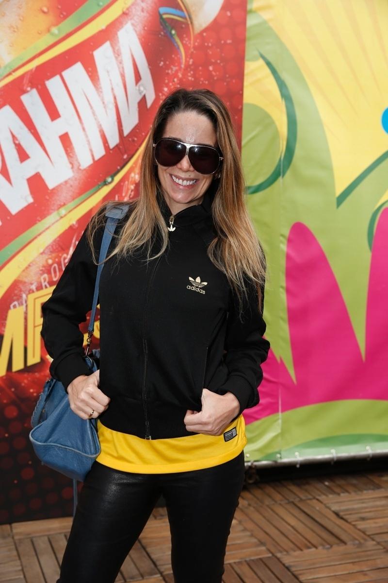 22.jun.2014 - Danielle Winits foi ao Maracanã para assistir ao jogo Rússia x Bélgica