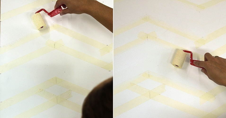 Passo a passo de pintura: chevron