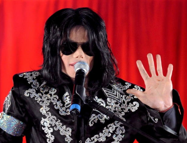 O cantor Michael Jackson, em maço de 2009, meses antes de morrer