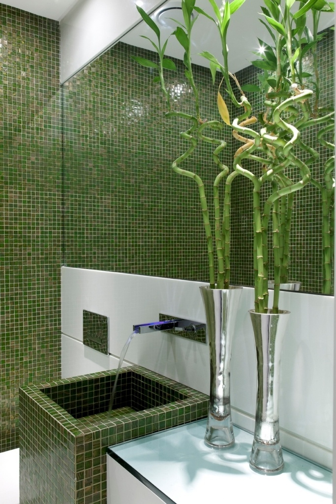 uol decoracao lavabo:arquiteto Leo Shehtman imprimiu certa tropicalidade ao lavabo ao