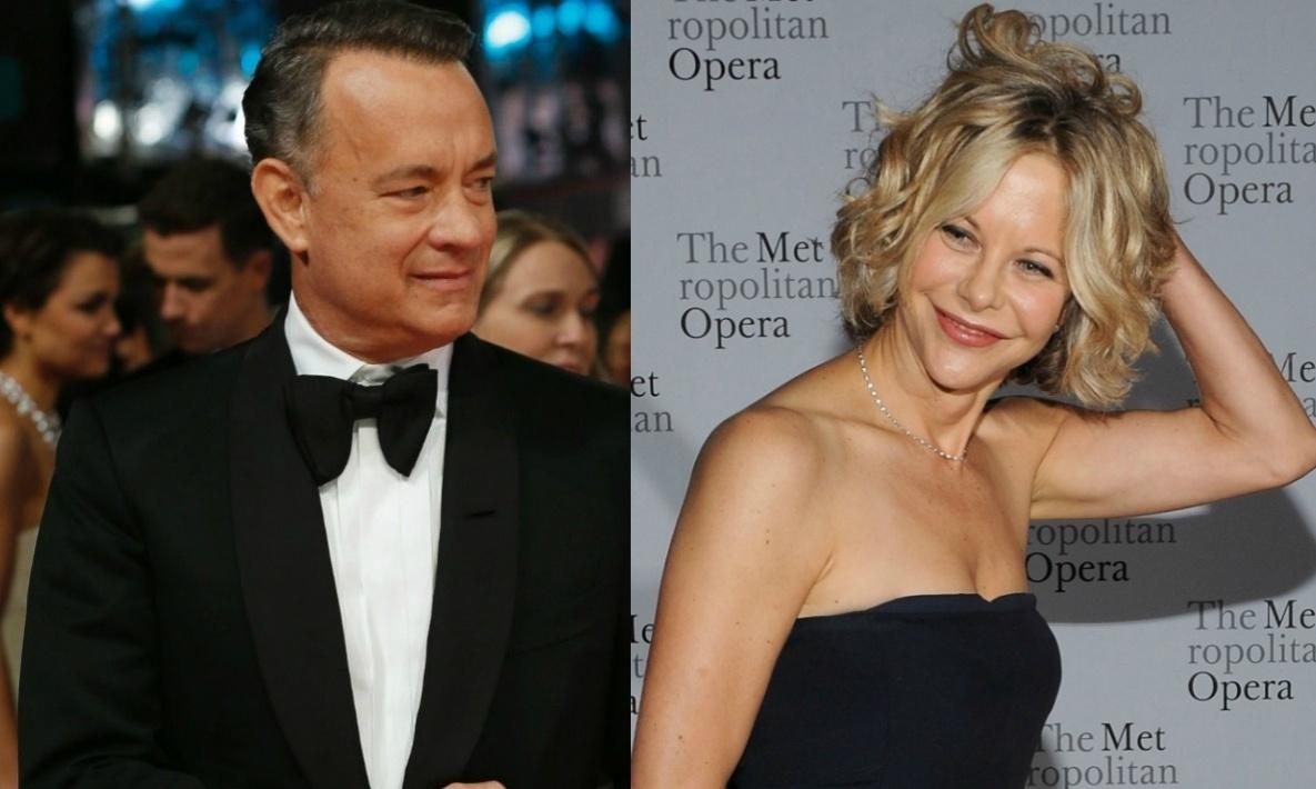 Montagem com Tom Hanks e Meg Ryan