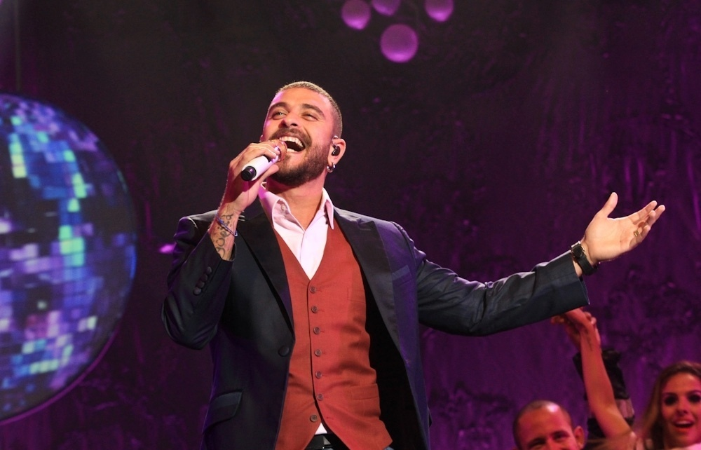 27.jun.2014 - Diogo Nogueira se apresentou no HSBC Brasil, em São Paulo, com sua turnê