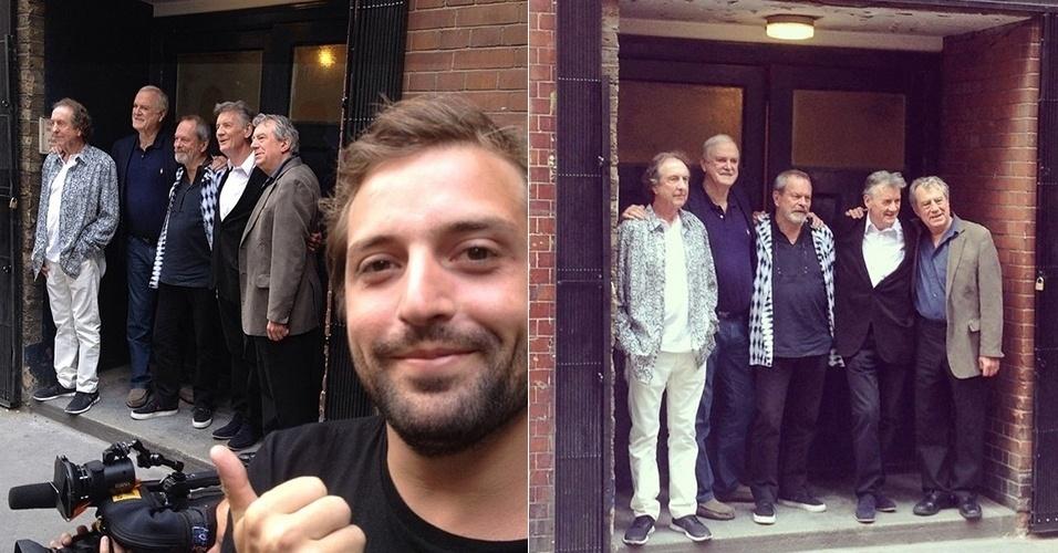 30.jun.2014 - Gregório Duvivier e Fábio Porchat, do Porta dos Fundos, postam imagens do grupo britânico de humor Monty Phyton, famoso por filmes como