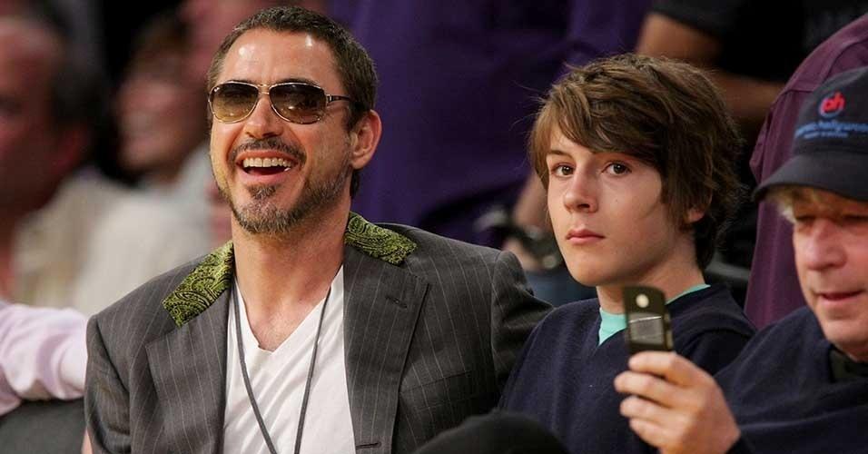 Robert Downey Jr. com o filho Indio Downey