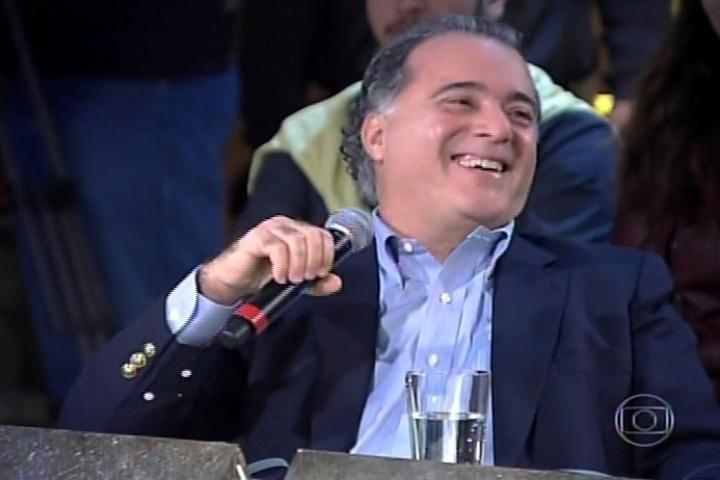 3.jul.2014 - Tony Ramos fala sobre sua paixão pelo Brasil na estreia da terceira temporada do