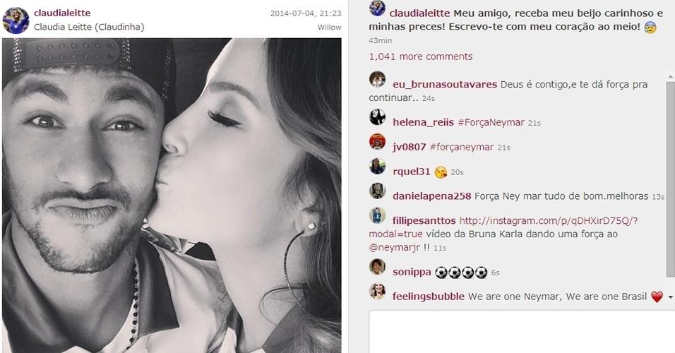 4.jul.2014 - Força Neymar - Claudia Leitte