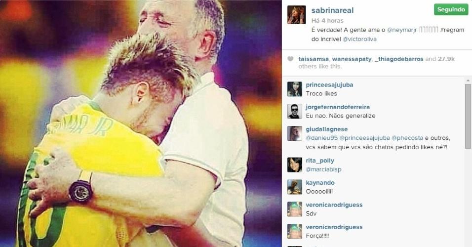 4.jul.2014 - Sabrina Sato também mostrou seu apoio a Neymar que quebrou uma vértebra durante o jogo entre Brasil e Colômbia