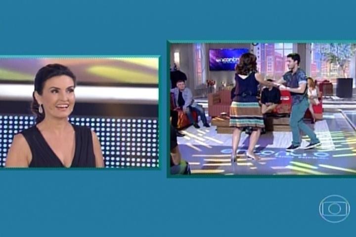 7.jul.2014 - Fátima Bernardes apresenta