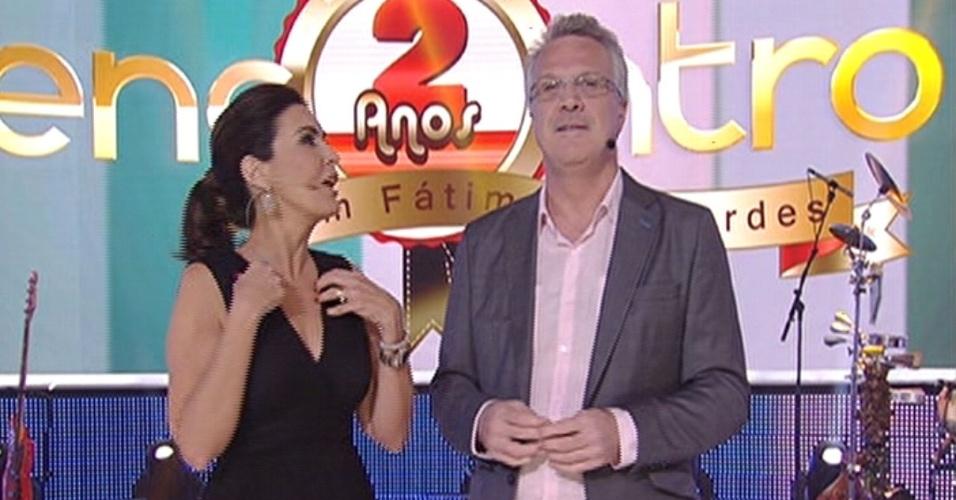 7.jul.2014 - Fátima Bernardes e Pedro Bial no