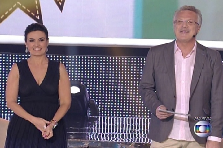 7.jul.2014 - Pedro Bial apresenta