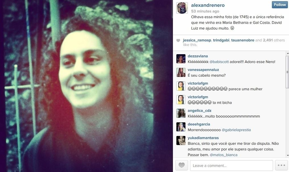 8.jul.2014 - Alexandre Nero se comparou ao jogador David Luiz em foto divulgada por meio do Instagram