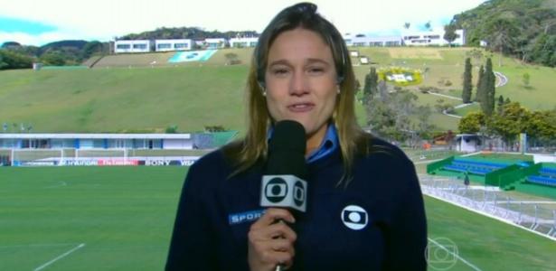 """Repórter da Globo e uma das candidatas à Musa da Copa, Fernanda chora ao vivo no """"Encontro"""""""