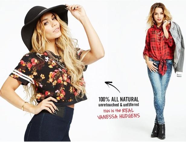 Atriz e cantora norte-americana Vanessa Hudgens em campanha para a marca fashion Bongo