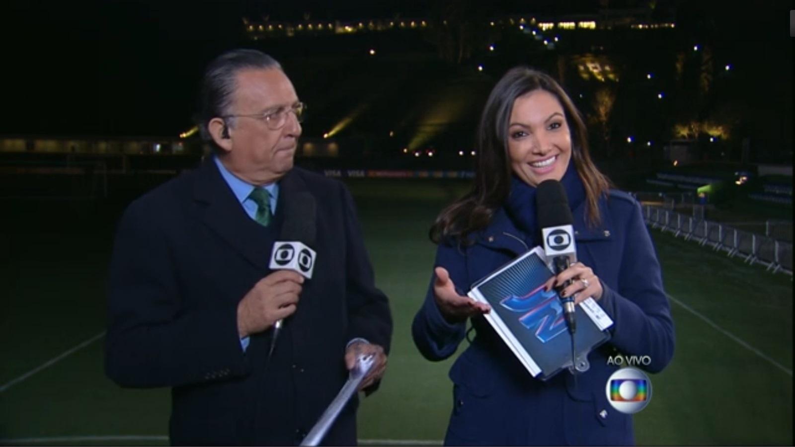 Ao lado de Galvão Bueno, Patrícia Poeta também foi destaque da cobertura da Copa do Mundo da Globo