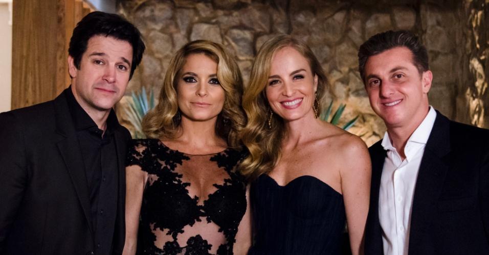 """Jonas (Murilo Benício), Pamela (Cláudia Abreu), Luciano Huck e Angélica em cena de """"Geração Brasil"""""""