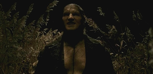 "O ator Dave Legeno no papel do lobisomem Fenrir Greyback, da saga ""Harry Potter"""