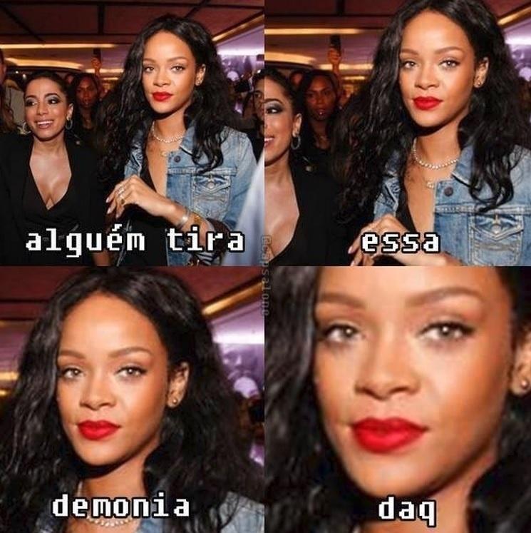 12.jul.2014 - Tietagem de Anitta em Rihanna vira meme na internet