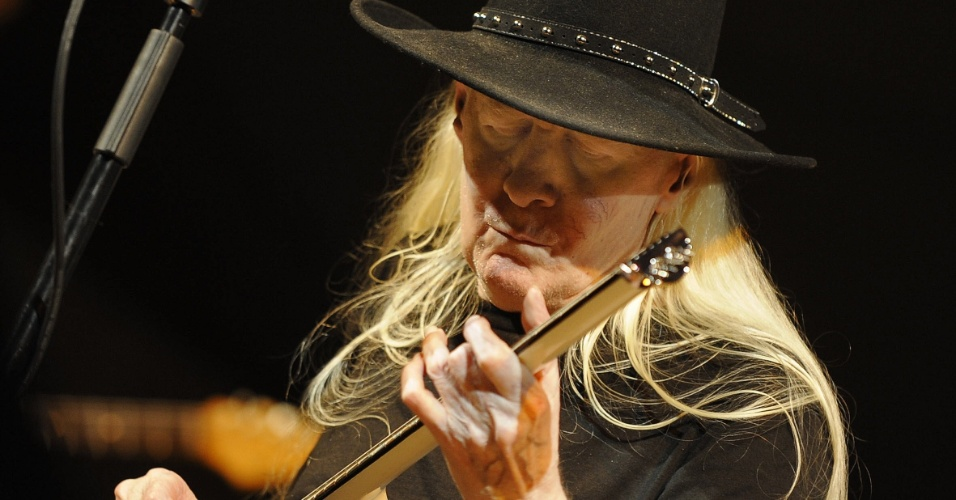 O músico Johnny Winter