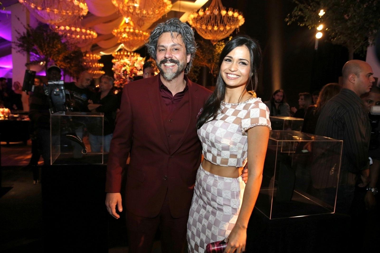 19.jul.2014 - Alexandre Nero e Nanda Costa a festa de lançamento da novela