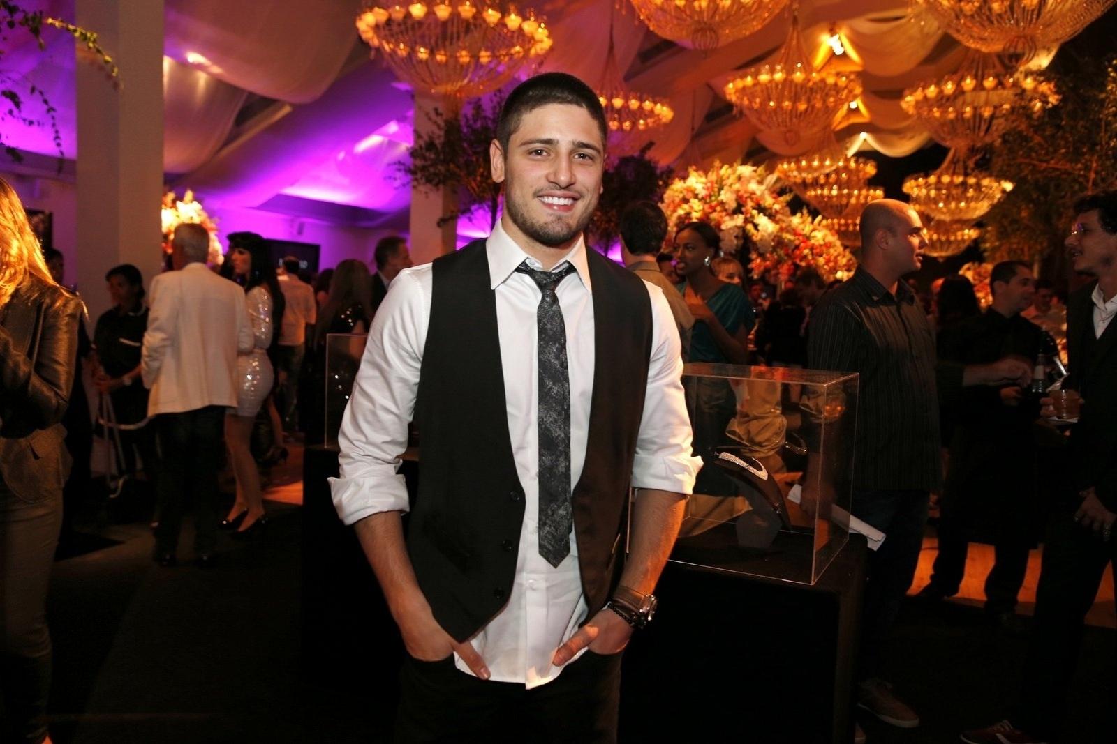 19.jul.2014 - Daniel Rocha prestigiou a festa de lançamento da novela