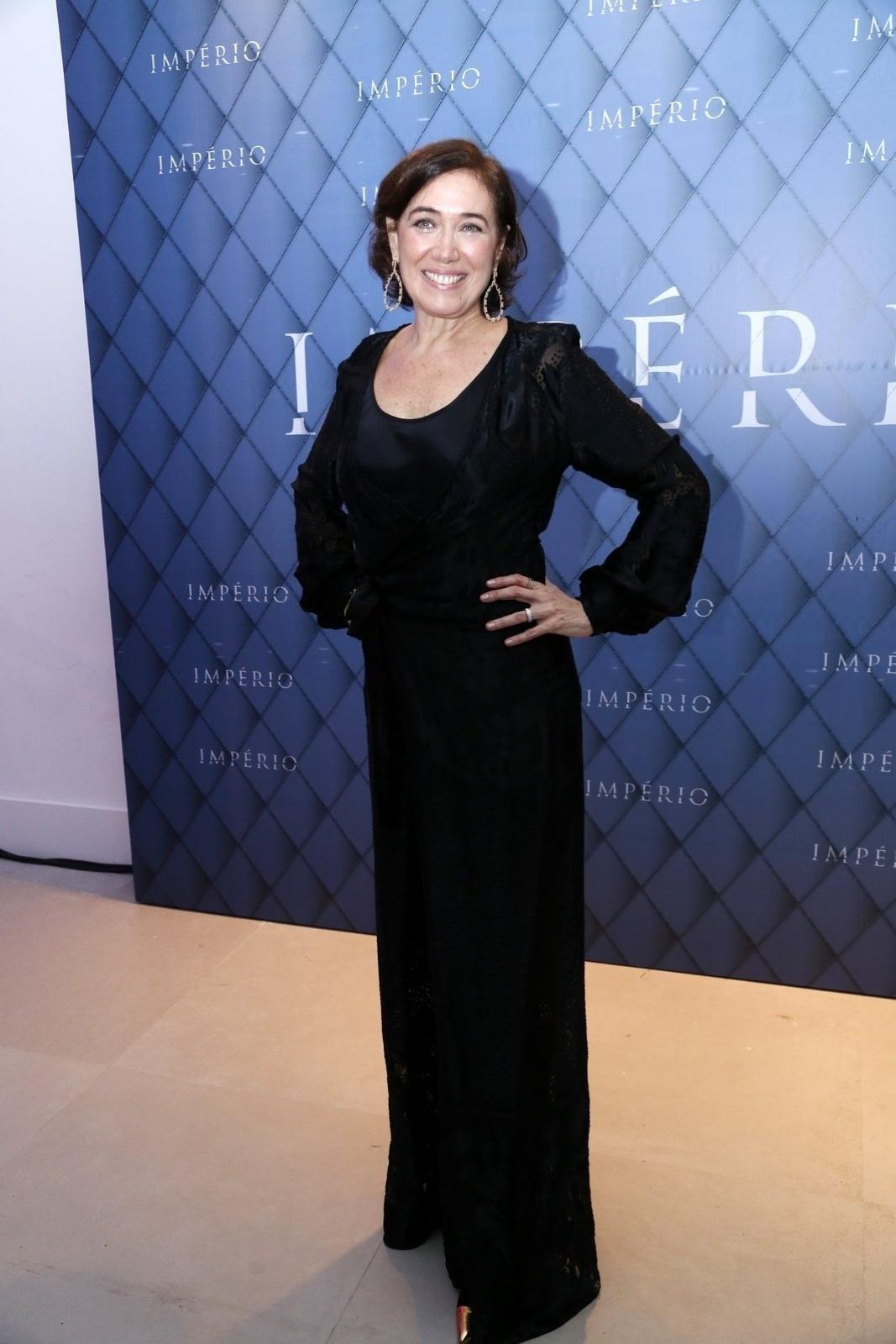19.jul.2014 - Lilia Cabral prestigiou a festa de lançamento da novela