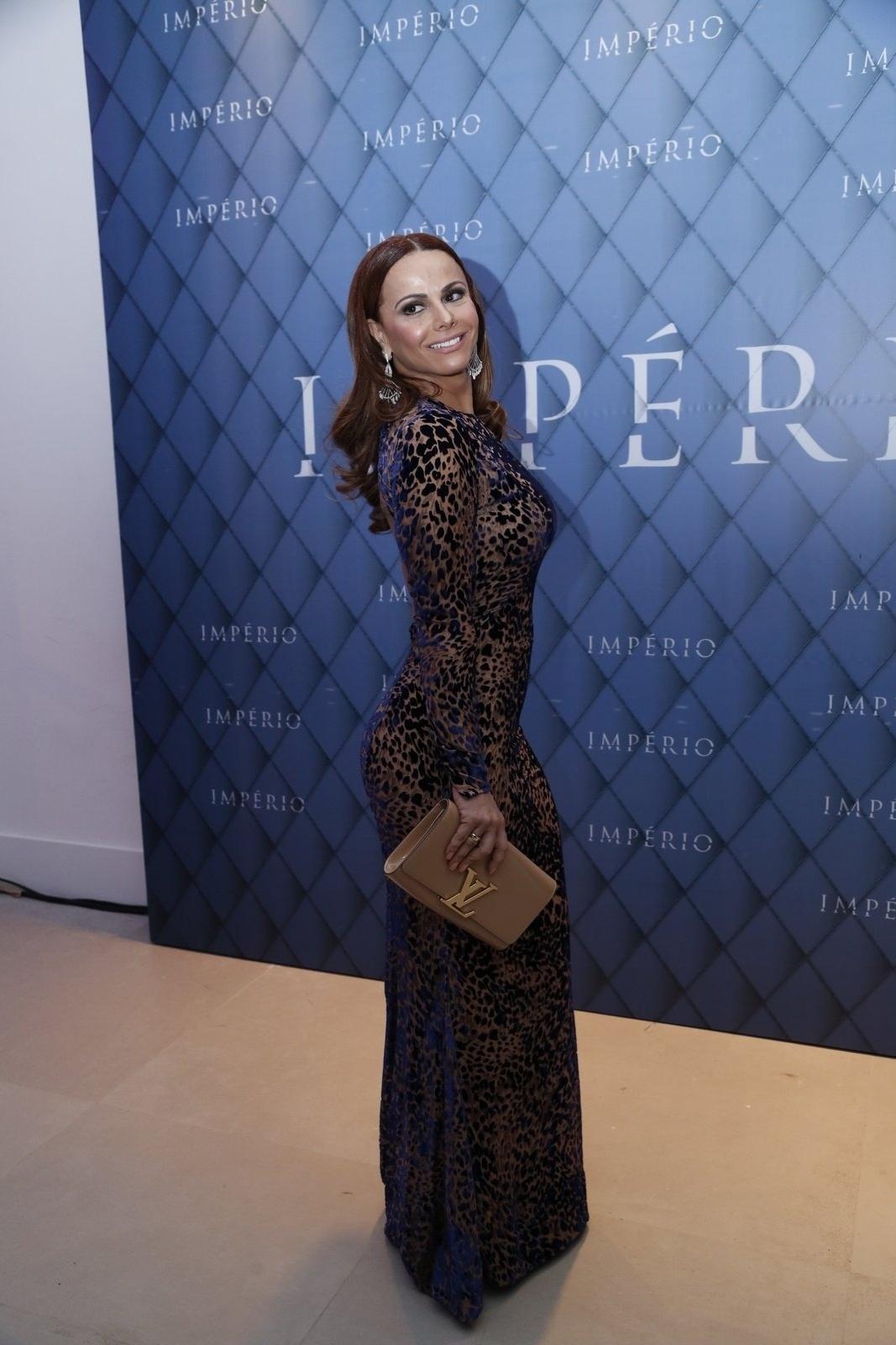19.jul.2014 - Viviane Araújo prestigiou a festa de lançamento da novela
