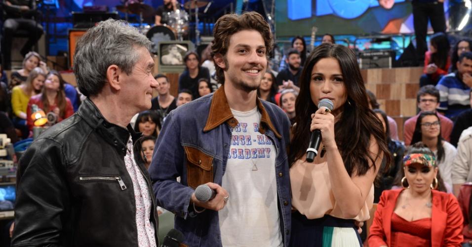 24.jul.2014 - Serginho Groisman, Chai Suede e Nanda Costa no