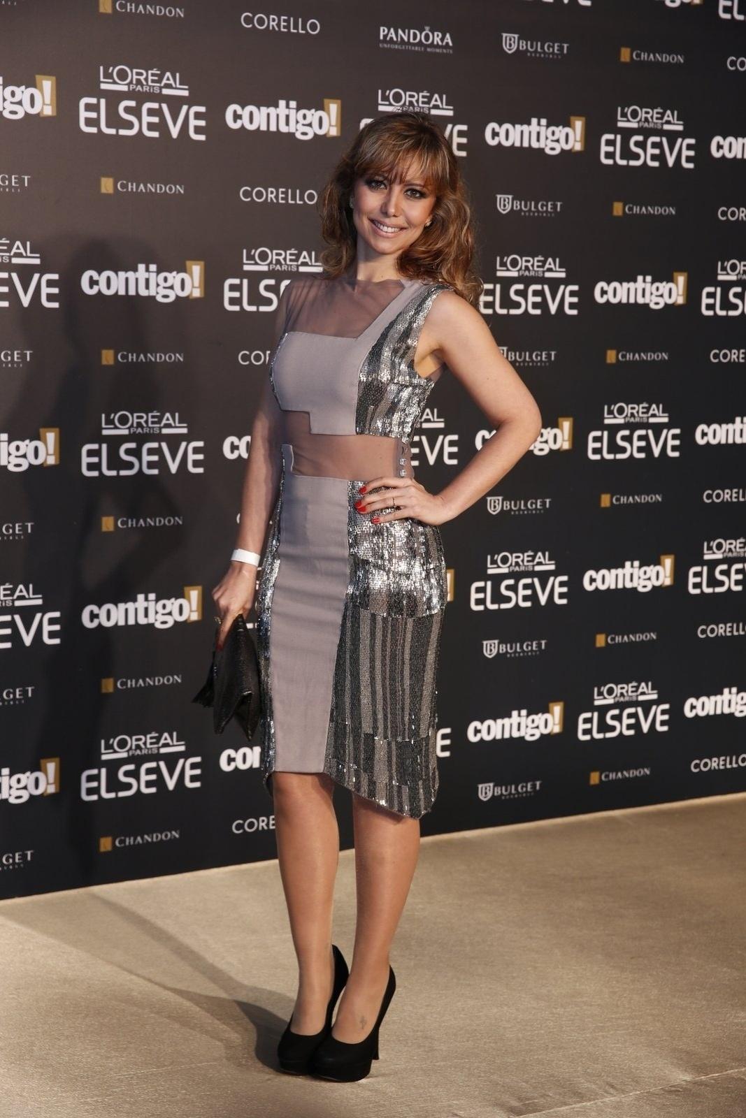 28.jul.2014 - A atriz Simone Soares prestigou a 16ª edição do Prêmio Contigo! de TV, realizado no hotel Copacabana Palace, no Rio.