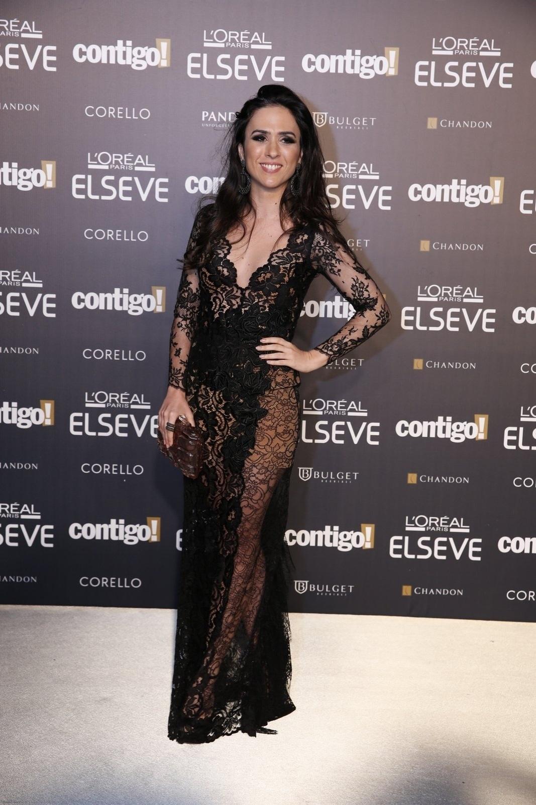 28.jul.2014 - A atriz Tatá Werneck prestigou a 16ª edição do Prêmio Contigo! de TV, realizado no hotel Copacabana Palace, no Rio. Ela concorreu ao troféu de revelação por seu papel em