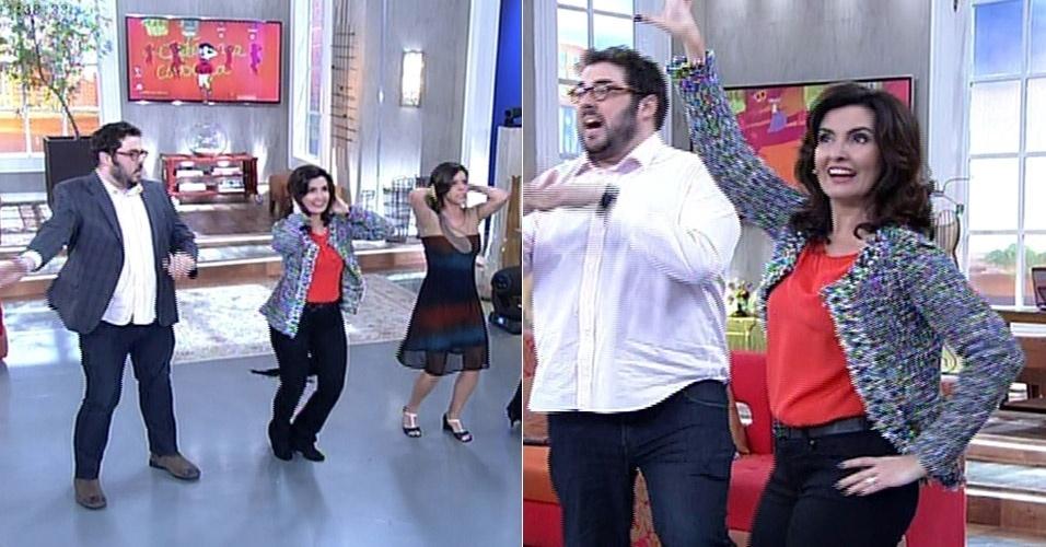 28.jul.2014 - Fátima Bernardes mostrou a sua desenvoltura ao dançar o hit
