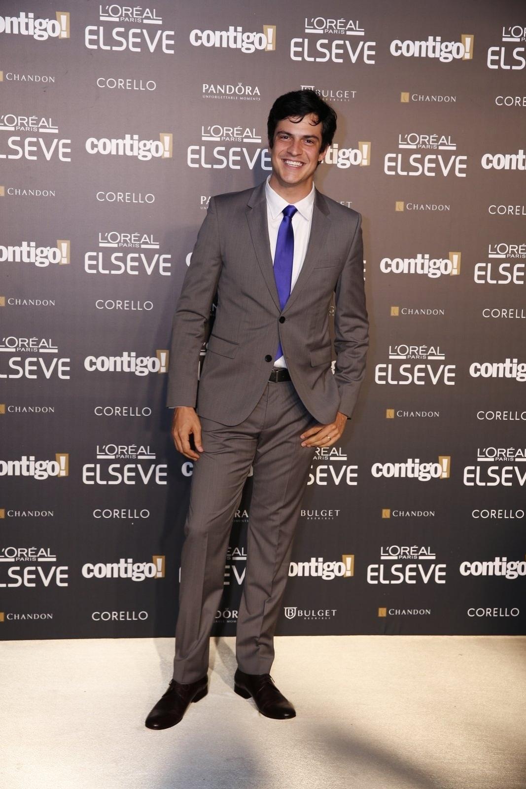 28.jul.2014 - O ator Mateus Solano prestigou a 16ª edição do Prêmio Contigo! de TV, realizado no hotel Copacabana Palace, no Rio. Ele concorreu ao troféu de melhor ator por