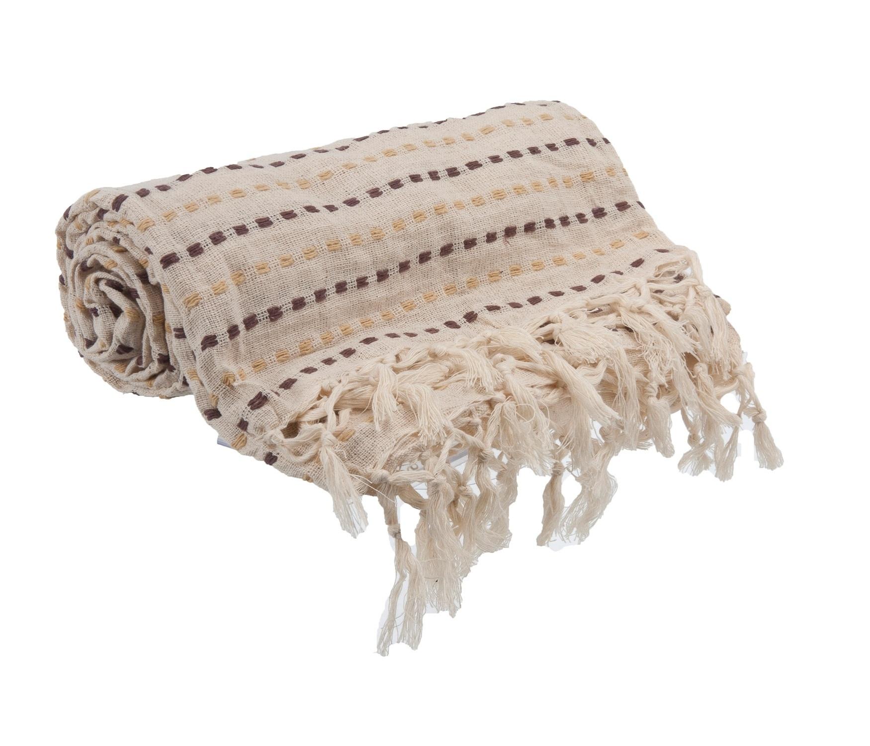 Feita de algodão, a manta Nanda mede 125 cm por 150 cm e pode ser comprada na Etna (www.etna.com.br) I Outras informações podem ser obtidas com o fornecedor