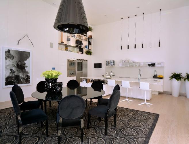 Sala De Jantar Parede Preta ~ sala de jantar (preto) e a cozinha (branco) A escolha da paleta de