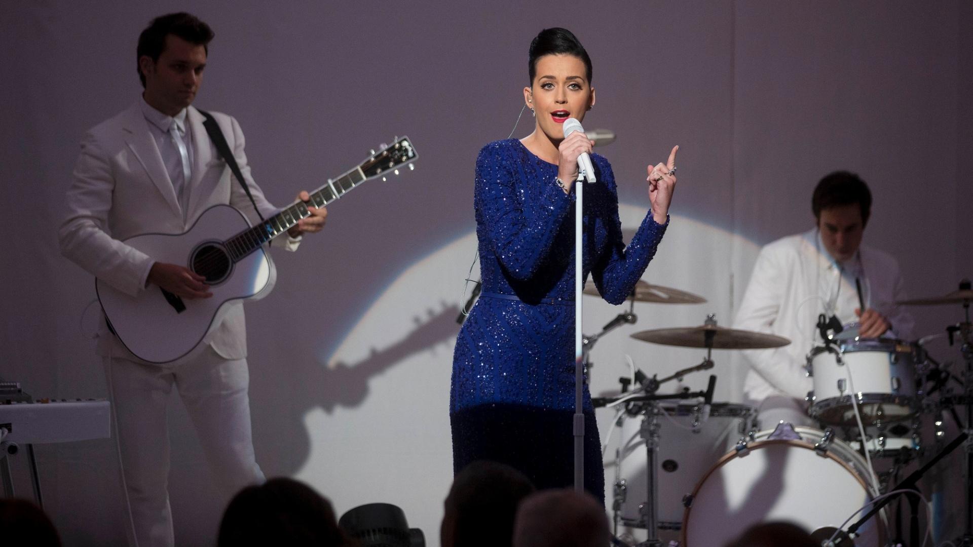 31.jul.2014 - Katy Perry se apresenta em baile de gala da Fundação Special Olympics na Casa Branca, em Washington31.jul.2014 - Katy Perry se apresenta em baile de gala da Fundação Special Olympics na Casa Branca, em Washington