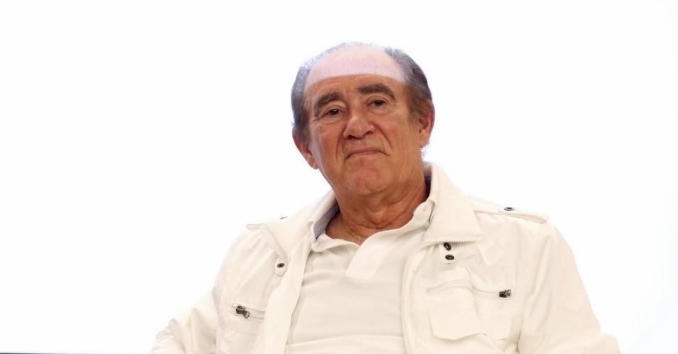 """5.ago.2014 - Renato Aragão participa de evento de lançamento do """"Criança Esperança"""", no Projac, no Rio"""