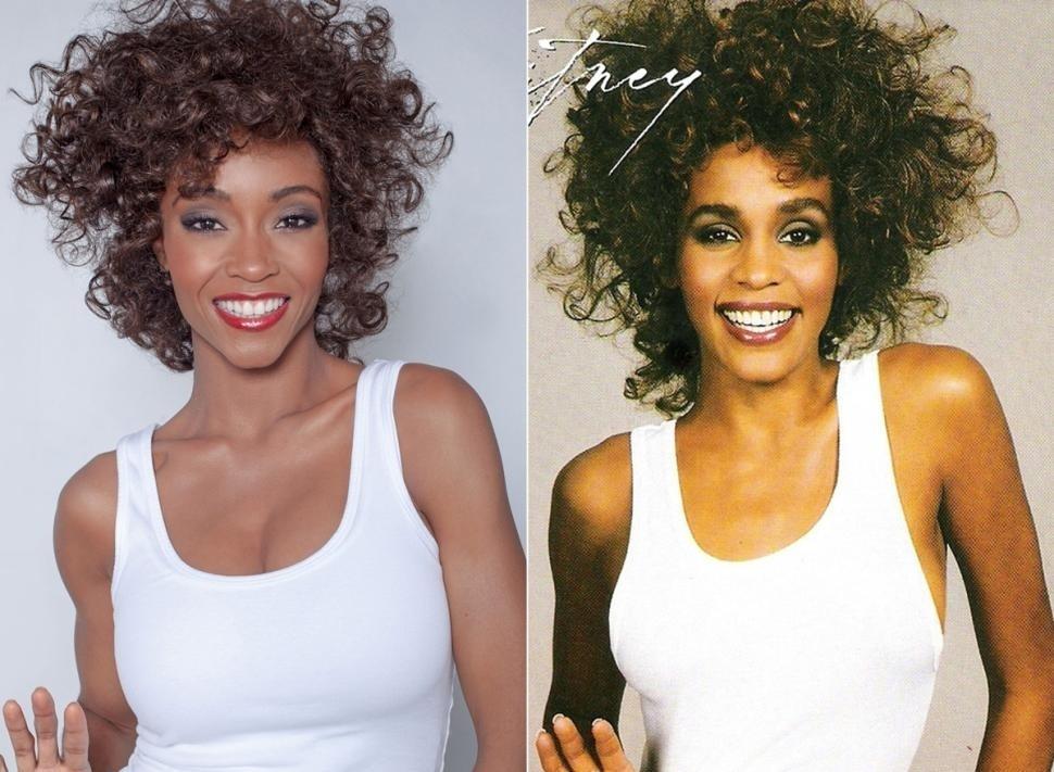 Yaya DaCosta posa como Whitney Houston na capa do disco