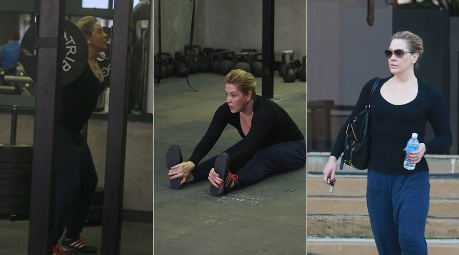 12.ago.2013 - Claudia Raia pegou pesado na malhação. A atriz foi fotografada enquanto treinava em uma academia na zona oeste do Rio. A atriz está escalada para viver a vilã da próxima novela das 19h da Globo