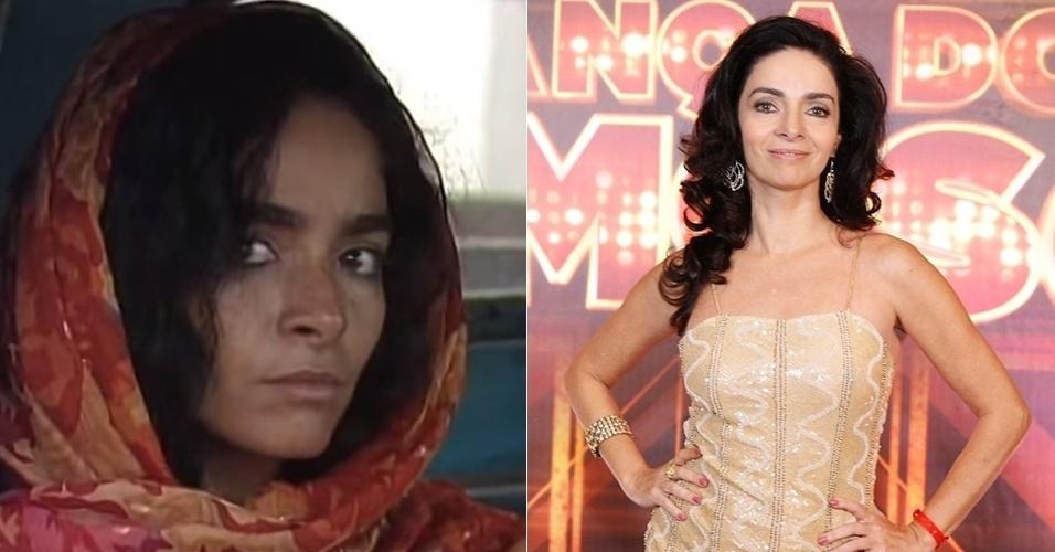 """Claudia Ohana fez Tieta na primeira fase da novela. Muito sensual, é expulsa da cidade de Santana do Agreste aos 18 anos. Após a novela, esteve em tramas como """"Rainha da Sucata"""" (1990), """"A Próxima Vítima"""" (1995) e """"Vamp"""" (1991), esta última a mais marcante de sua carreira. Em 2012, ficou em segundo lugar no quadro """"Dança dos Famosos"""", do """"Domingão do Faustão"""""""