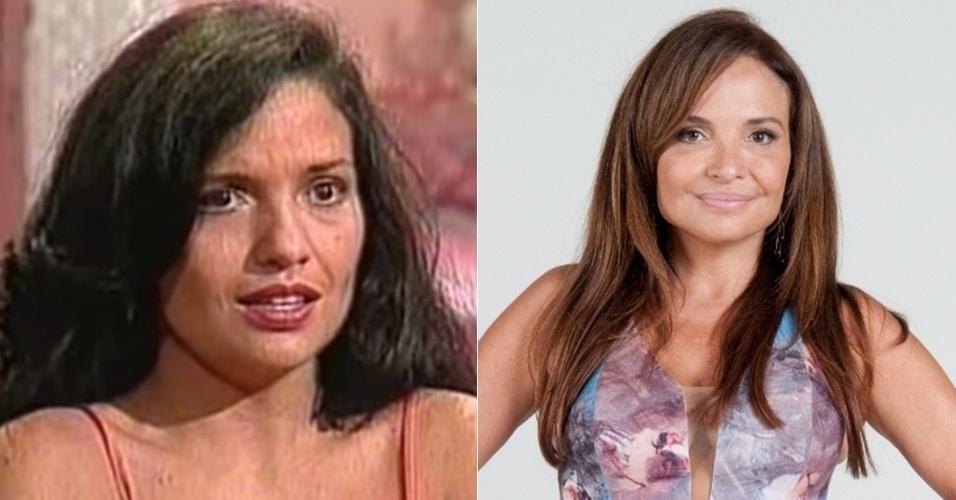"Luiza Tomé era Carol, amante de Modesto Pires (Armando Bógus). ""Tieta"" foi a segunda novela da atriz, que mais tarde participou de ""Fera Ferida"" (1993), ""Porto dos Milagres"" (2001), na Globo, e ""Bela, a Feia"" (2009), ""Máscaras"" (2012), ""Dona Xepa"" (2013) e ""Milagres de Jesus"" (2014), na Record"