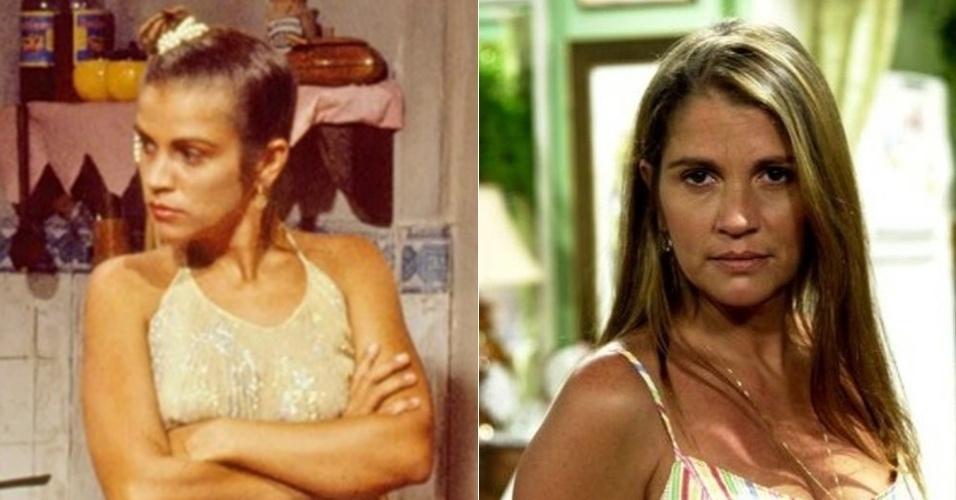 """Tássia Camargo, a irmã mais nova de Tieta (Betty Faria), deixou a Globo em 2007, onde ficou conhecida por atuar em novelas como """"O Salvador da Pátria"""" (1989), """"Despedida de Solteiro"""" (1992) e """"O Cravo e a Rosa"""" (2000). Em 2007, fez a sua última novela, """"Vidas Opostas"""", na Record. Resolveu dar uma pausa na carreira e atualmente segue afastada da TV"""