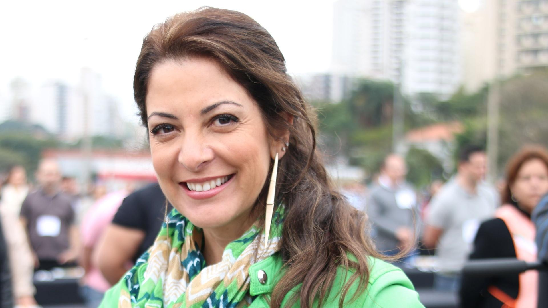 Ana Paula Padrão em gravação do