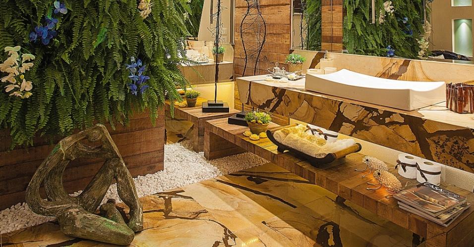 uol decoracao lavabo:No Lavabo, de Lisley Ferreira, Patricia Pedreira Gondim e Maria Lia, o