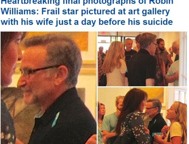 Daily Mail divulga as últimas fotos de Robin Williams um dia antes de sua morte